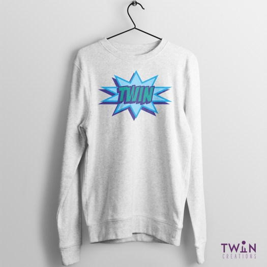 comic twin jumper athletic blue