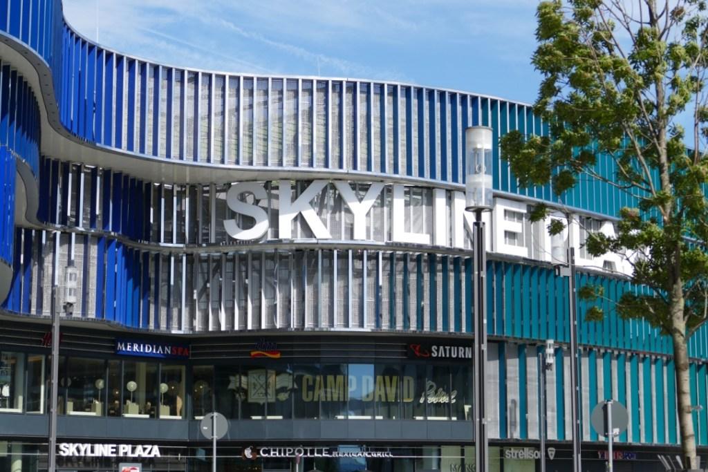 One of Frankfurt's shopping malls - Skyline Plaza.