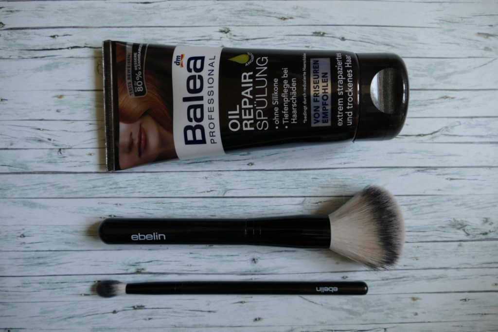 My fave products from dm's own brands balea and ebelin: Both brushes are excellent and incredibly cheap, same as the conditioner that is the best I ever tried - for 1,45€!