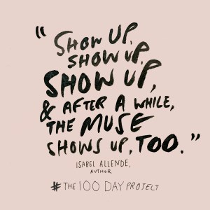 100 day project pledge by Elle Luna