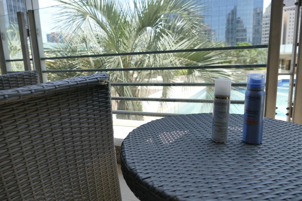 L'Oreal UV Perfect Aqua Essence City Face Mist and Bioderma Hydrabio Eau de Soin SPF30 Moisturizing UV mist