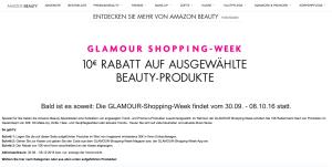 amazon beauty glamour shopping week