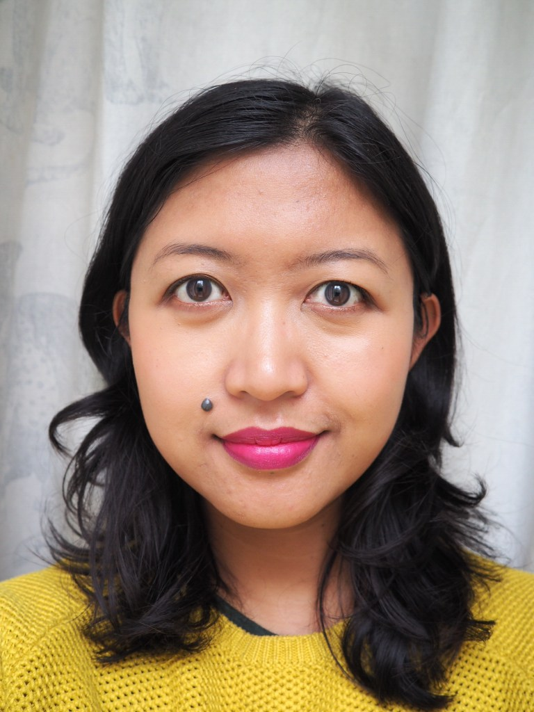 Wearing MAC Viva Glam Taraji P. Henson Lipstick