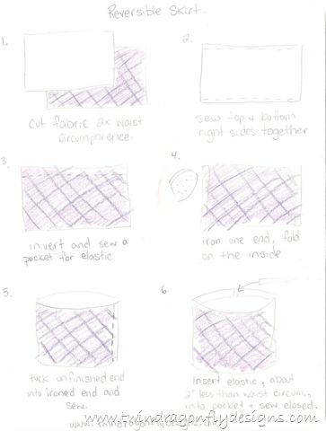 Simple Reversible Skirt » Homemade Heather