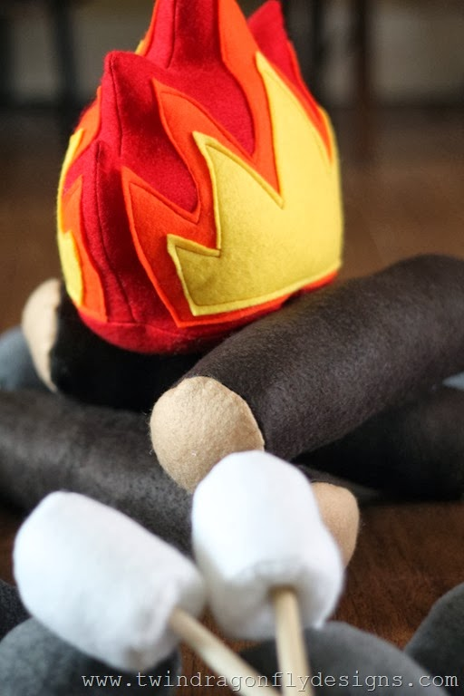 DIY Felt Campfire Tutorial and Pattern  One For The Boys