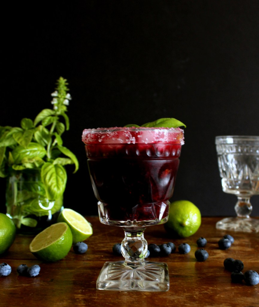 blueberry basil margarita_twine and braids