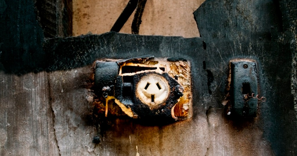 Common electrical hazards at home - Stained or burnt electrical outlets