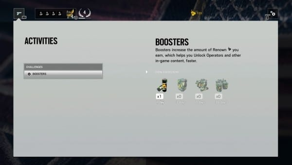 Rainbow Six Siege, boosters, friends, easy renown