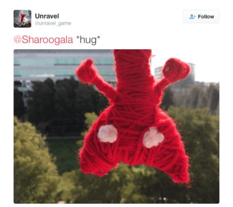 yarny unravel hug
