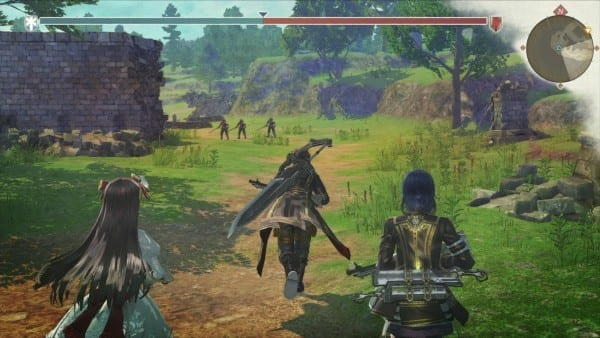 Valkyria, Azure Revolution, screenshot, battle