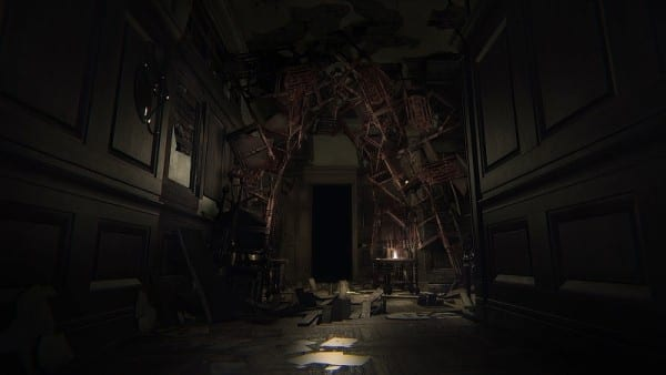 Layers of Fear Floating Furniture