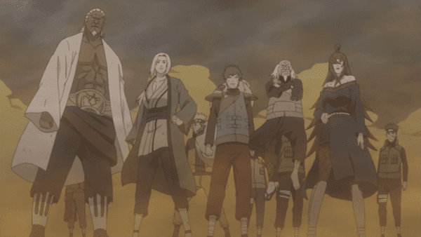 naruto madara vs five kages