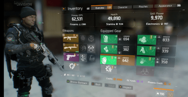 The division gear sets