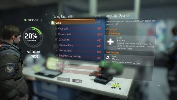 The Division, how to, heal, skill, medikits