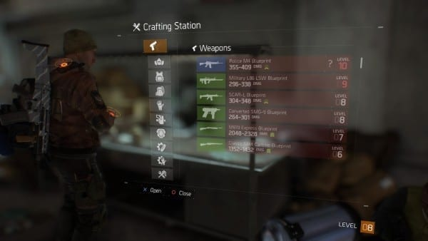 The Division, how to, crafting, station, craft