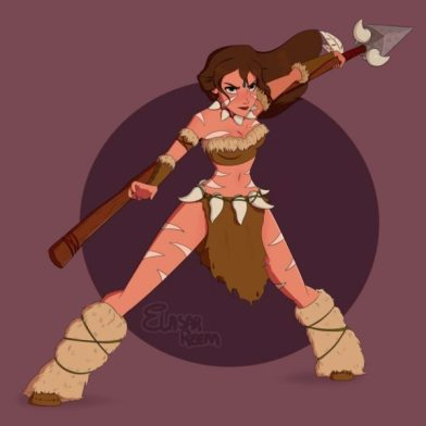 Jane as Nidalee Disney princesses as League of legends champions