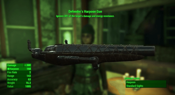 Fallout 4 Far Harbor Defender's Harpoon Gun