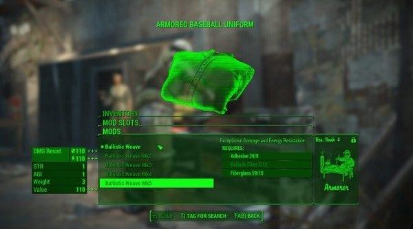 Fallout 4, Far Harbor, ballistic weave, prepare