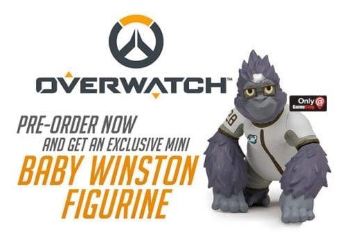 gamestop overwatch winston preorder bonus figure