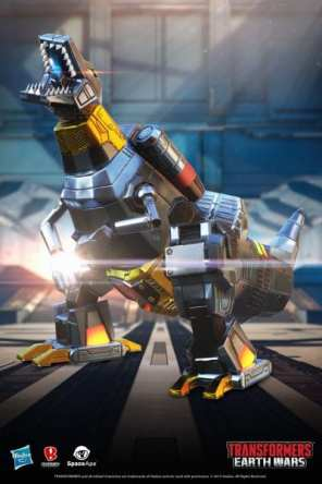 Grimlock: A rampaging force of nature, Grimlock is the most feared and powerful of the Dinobots, as irascible and savage as the T-Rex his beast mode is modelled on. Combat is in Grimlock's spark, and periods in between battles are simply periods of great frustration and seething resentment. Any display of weakness is worthy only of contempt in Grimlock's optics, but he's not as dumb as he likes people to think, and his courage on the battlefield is the stuff of legend.