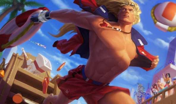 League of Legends Pool Party Taric splash art skin