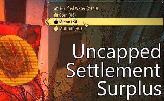 Fallout 4, mods, uncapped settlement surplus