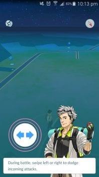 Pokemon GO, how to dodge