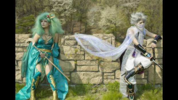 Rydia and Edge Geraldine - Final Fantasy IV