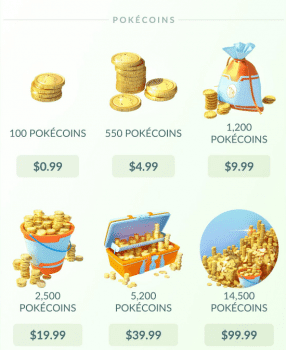 Pokemon GO microtransactions