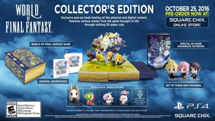 world of final fantasy, collector's edition