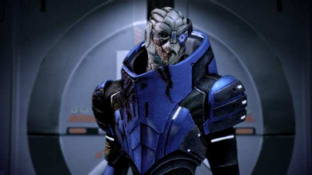 True or False: In Turian culture, to have no markings on your face is a sign that you're not to be trusted, or a politician.