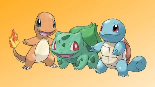 The Starters: Squirtle, Bulbasaur, and Charmander