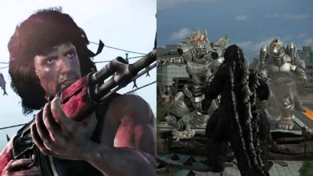 Rambo: The Video Game vs. Godzilla