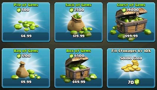 Clash of Clans microtransaction