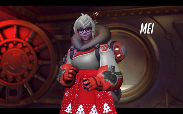 mei, mrs. clause, skin, overwatch, event, christmas, holiday
