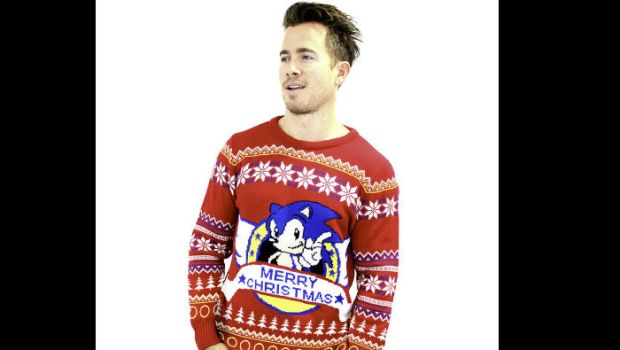 An Ugly Sonic Christmas Sweater