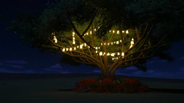 Hubba's Light Strung Tree