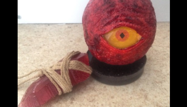 Red Eye Orb and Red Sign Soapstone