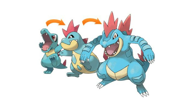Totodile Family (Water)