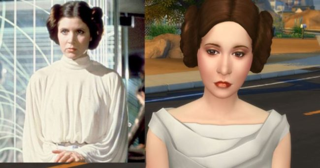 Carrie Fisher as Princess Leia Organa