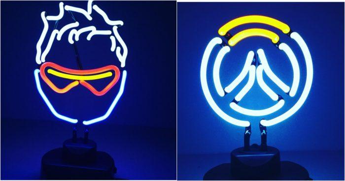overwatch, neon lights