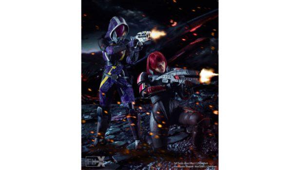 Tali'Zorah and Commander Shepard