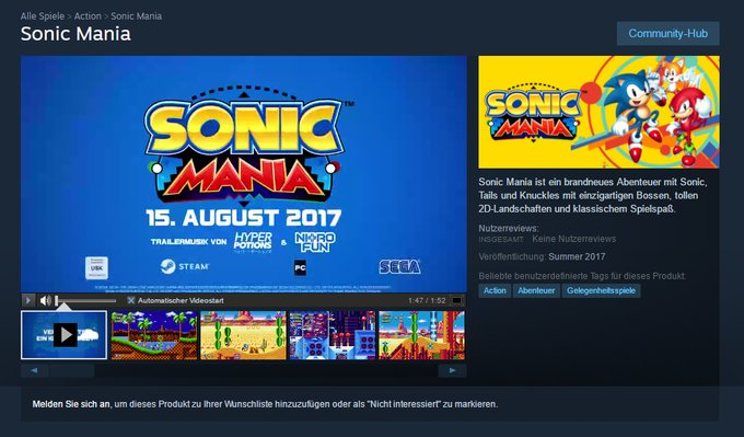 sonic mania, release date