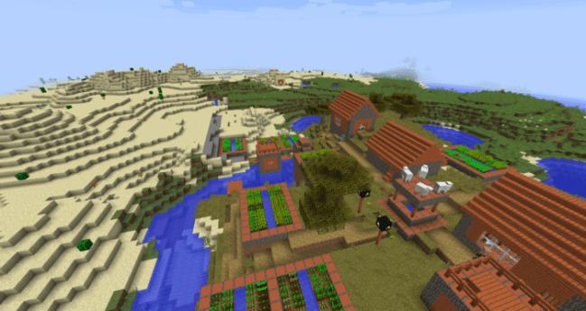 Desert Temple and Savanna Village