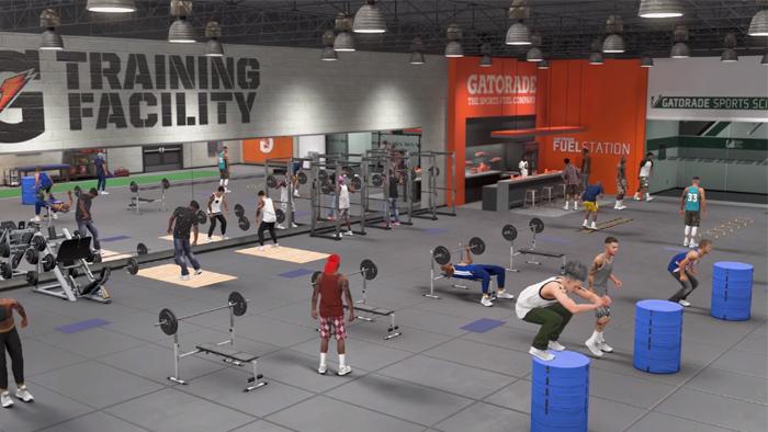 NBA 2K18 Gym