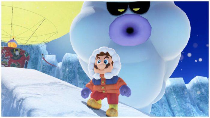 mario odyssey snow hood