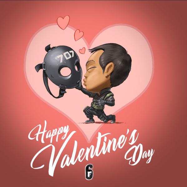 Rainbow Six Seige, Valentine's Day, Love, Card