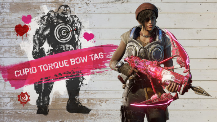 gears of war, valentine's day, cupid bow