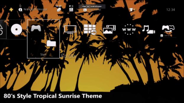 80's Style Tropical Sunrise Theme