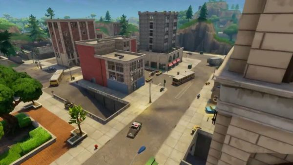 fortnite, tilted towers, comet, meteorite